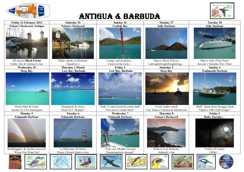 Antigua Barbuda Postcard 2012
